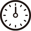 午後0時をさす時計