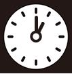 午後1時をさす時計