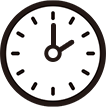 午後2時をさす時計